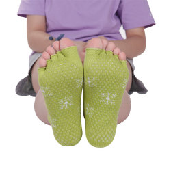 Non Slip Knitted Cotton Five Toe Yoga Socks