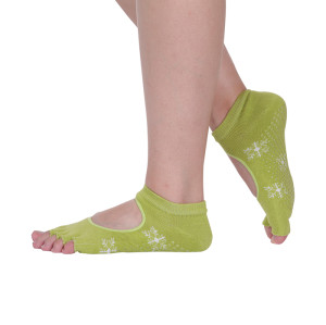 Non Slip Knitted Cotton Five Toe Yoga Socks