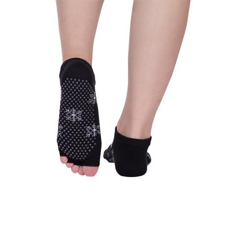 Custom Grip Yoga Pilates Latex Toe Socks