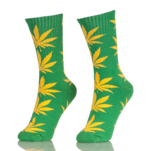 Custom Design Cotton Maple Leaf Socks