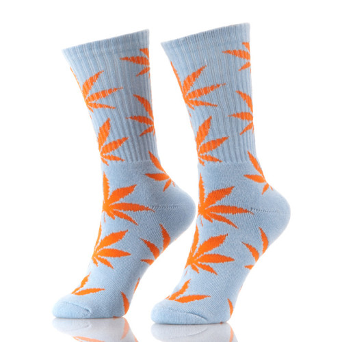 Wholesale Customized Plant Leaf Socks Weed