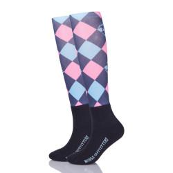 Horse Riding Argyle Sublimated Socks