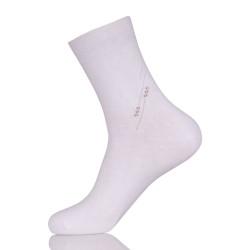 Mens Combed Cotton White Dress Socks
