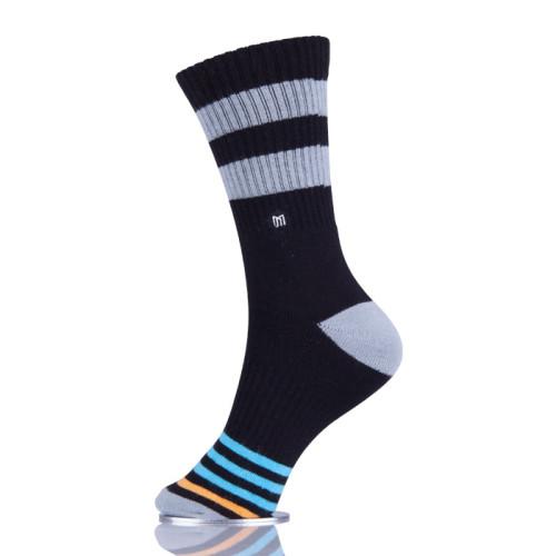 Mens Athletic Skateboard Socks Custom Logo Color