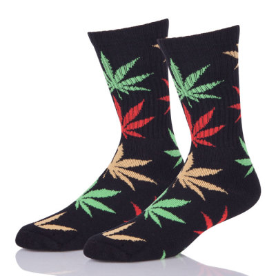 Wholesale Hearther Crew Weed Maple leaf Socks