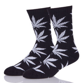 Boys Wearing Crew Cheap Hemp Weed Leaf Socks for Man
