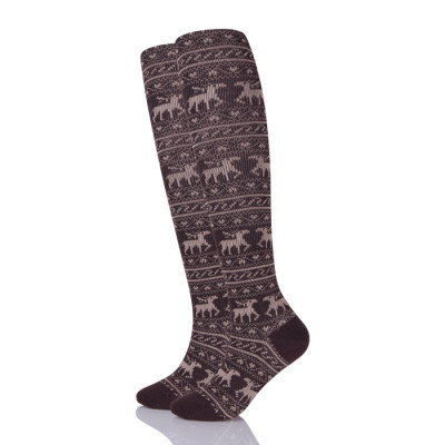 Equestrian Over The Knee Jacquard Horses Riding Socks Women