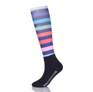 Horse Riding Socks Rainbow Long Stripe Socks