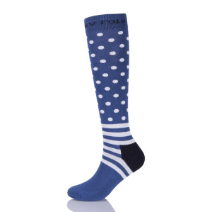 Custom High Knee Sport  Horse Riding Athletic Striped Socks Oem