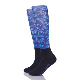 Horse Pattern Riding Socks Equestrian