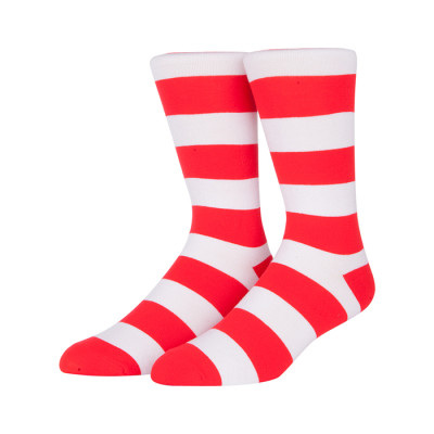 Red And White Socks Newest Product Custom Design Fashion Soft Stripe Sox