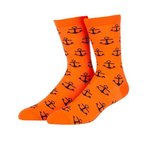 Classic Fancy Chic Colorful Sea Anchor Jacquard Custom Men Socks