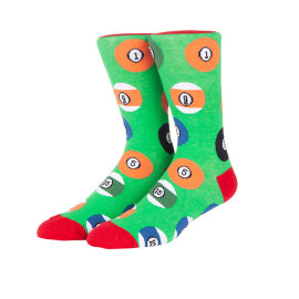 Wholesale High Quality Fashion Sports Billiard Pattern Waterproof Funny Socks