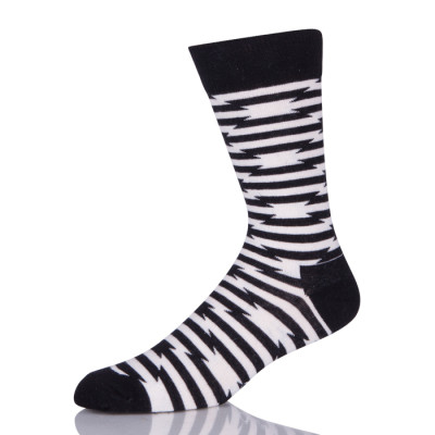 Black And White Stripes Zebra Pattern Custom Socks Men