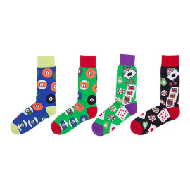 Colorful Design Youth Hip Hop Funny Street Poker Cards Pattern sweat-Absorbent Socks