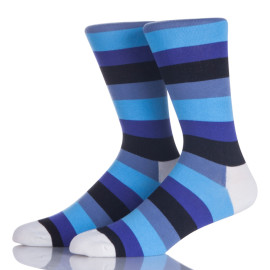 Anti-Bacterial Mens Dress Knitted Socks Colorful