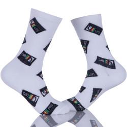 Mens Dress Socks Colorful Patterned Cotton Socks Funky Crew Socks