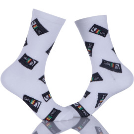 Mens Dress Socks Colorful Patterned Cotton Socks Funky Crew Socks