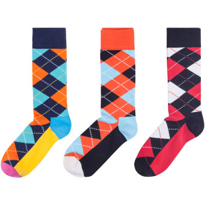 Mens Funny Novelty Cotton Crew Socks Colorful Cute Crazy