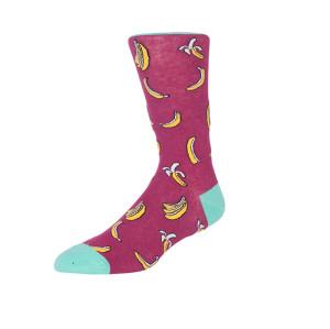 Zhuji Fruit Yellow Banana Knitted Men Socks Cotton 100% Harajuku Socks