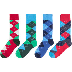 Mens Colorful Dress Socks,Fashion Casual Colorful Patterned Fancy Cotton