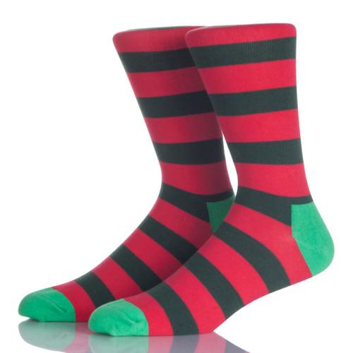 Men Dress Socks Funky Colorful Printed Novelty Cotton Crew Socks Cool Fashion Funny