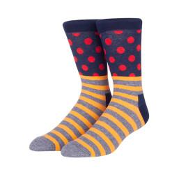 Custom Logo Women Wave Stripe Pattern Fashion Art Socks With Packaging