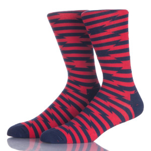 Men's and Women's Combed Cotton Colorful Pattern Fun Casual Dress Socks for Unisex