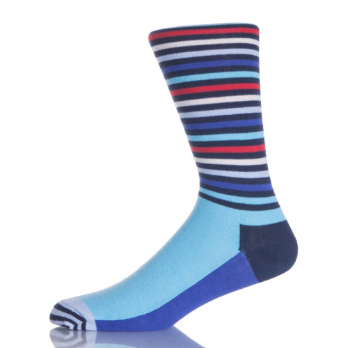 Custom Bamboo Resistant Pattern Crew Dress Workout Socks For Business Men And Casual