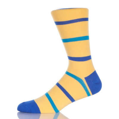 Men's Fun Logo Dress Socks, Colorful Funny Novelty Crazy Crew Socks Packs