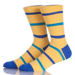 Men's Fun Logo Dress Socks, Colorful Funny Novelty Crazy Crew Socks Packs
