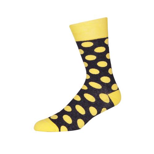 Yellow Black Warm Wholesale Custom Socks/Wave Point Socks/Comfortable Soft Socks