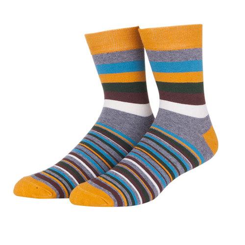 2019 Summer Men Long Socks Men's Business Casual Colorful Stripe Socks Male Color Socks