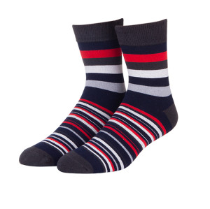 2019 Summer Men Long Socks Men's Business Casual Colorful Stripe Socks Male Color Socks