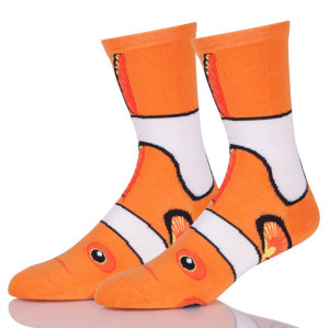 Mens Funny Colorful Dress Socks With Cartoon Pattern
