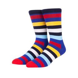 Wholesale Socks For Men ,Colorful Striped Socks,Custom Cheap Bulk Socks