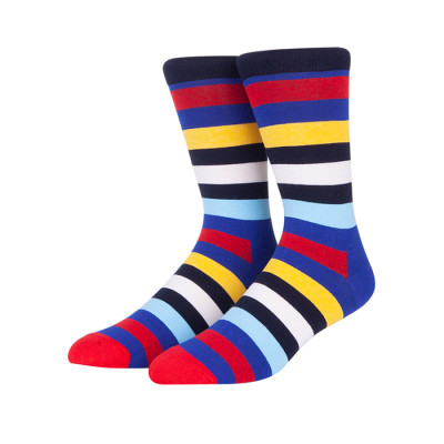 Wholesale Socks For Men ,Colorful Striped Socks,Custom Cheap Bulk Socks