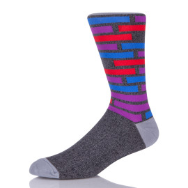 Wholesale Bamboo Colorful Funny Crazy Novelty Fun Dress Lacrosse Socks For Men