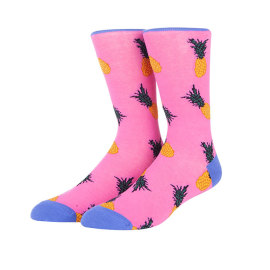 Fashion Custom Colorful Cotton Men Fancy Pineapple Fruit Fun Socks Manufacturer