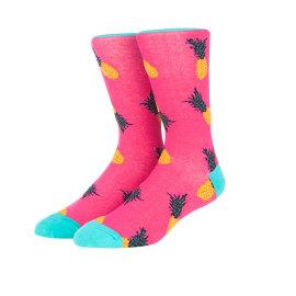 Funny Stylish Cotton Socks Men Custom,Funny Pineapple  Socks For Men
