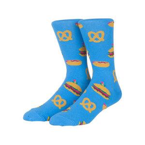 Combed Cotton Socks Korean Socks Cartoon Pizza Hamburger Pattern