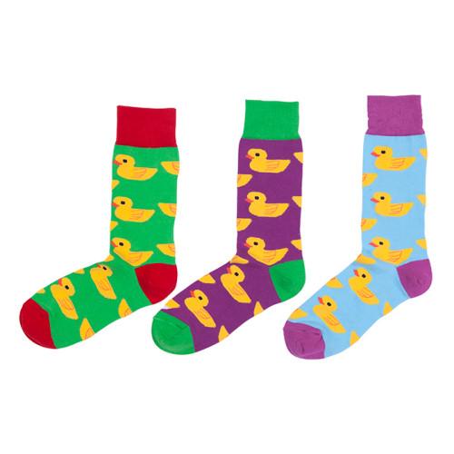 2019 Funky Funny Cute Cartoon Funny Little Yellow Duck Unisex Socks