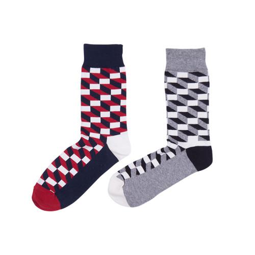 9 Colors British Style Fashion Lattice Pattern Funny Socks Plaid Men Socks