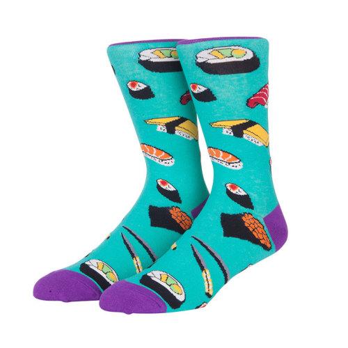 2019 New Print Compression Custom Cute Japan Sushi Pattern Crew socks