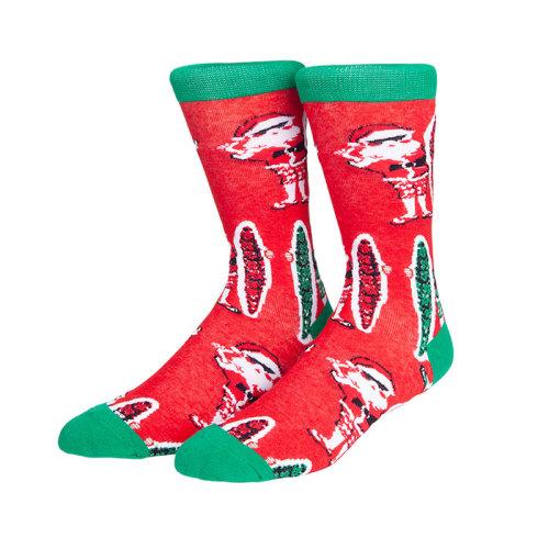 Winter Custom Santa Claus Pattern Logo Christmas Festival Socks