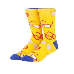 2019 Popular OEM Service Glass Style School Student Fun Cotton Socks