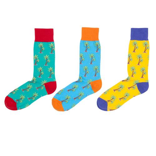 2019 Popular Coconut Tree Pattern Korean Funny Colored Socks Men