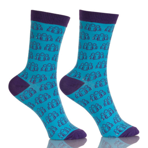 Funky Apparel Design Services Man Blue Socks