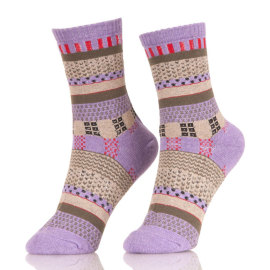 Full Color Men Colorful Pattern Cotton Dress Socks