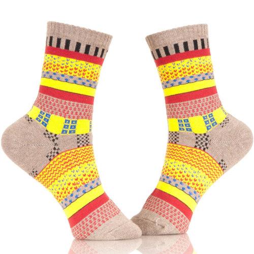 Full Color Men Colorful Pattern Cotton Dress Socks